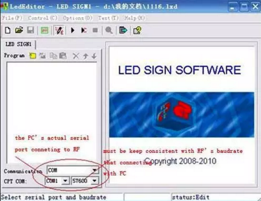 led sign software